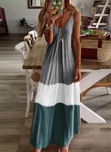 Sukienka Cikelly maxi na ramiączkach