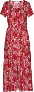 Sukienka bonprix bpc selection trapezowa z krótkim rękawem