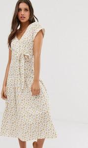 Sukienka Asos midi z krótkim rękawem