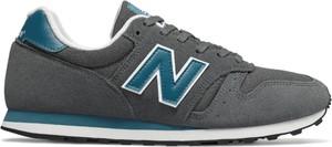 Granatowe buty sportowe New Balance z zamszu sznurowane