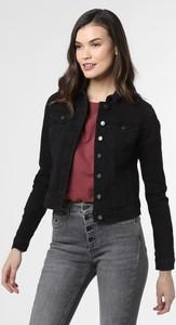 Czarna kurtka Vila krótka z jeansu w stylu casual
