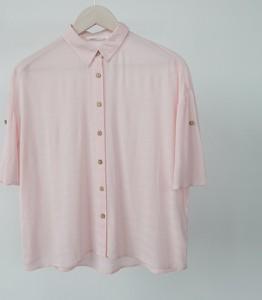 Różowa koszula Reserved z tkaniny