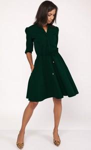Zielona sukienka Lanti z długim rękawem