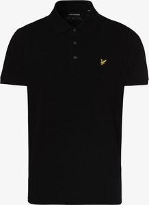 Czarny t-shirt Lyle & Scott w stylu casual