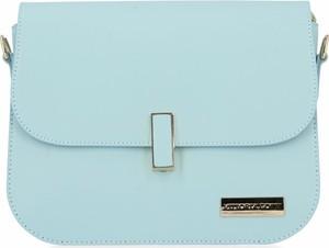 Niebieska torebka VITTORIA GOTTI ze skóry na ramię średnia