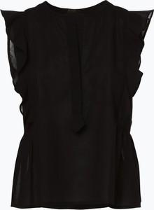 Czarna bluzka Drykorn z okrągłym dekoltem w stylu boho