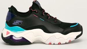 Buty sportowe Skechers z płaską podeszwą ze skóry sznurowane