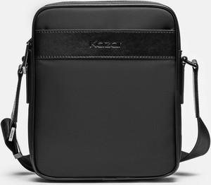 Czarna torba Kazar ze skóry ekologicznej