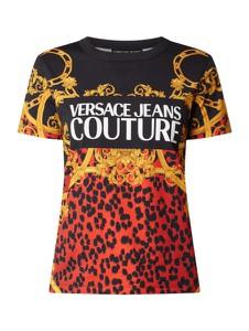 Bluzka Versace Jeans z krótkim rękawem w stylu casual z okrągłym dekoltem