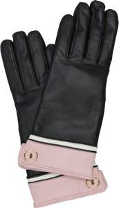 Czarne rękawiczki Elisabetta Franchi