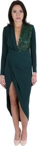Zielona sukienka Inna asymetryczna