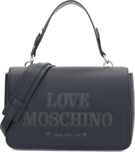 Czarna torebka Love Moschino w młodzieżowym stylu