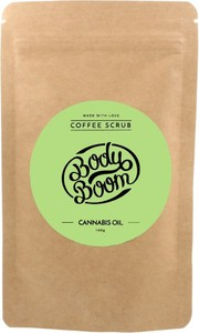 Bielenda Body Boom, peeling kawowy do ciała, Cannabis Oil, 100g