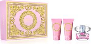 Versace, Bright Crystal, zestaw: woda toaletowa, spray, 50 ml + balsam do ciała, 50 ml + żel pod prysznic, 50 ml