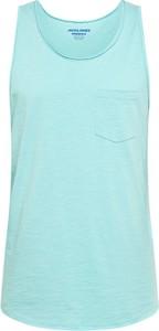 Błękitna koszulka Jack & Jones z bawełny