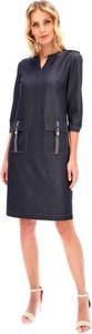 Sukienka Lavard koszulowa z długim rękawem