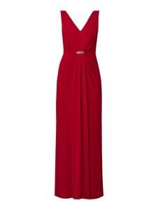 Czerwona sukienka Lauren Ralph Lauren bez rękawów