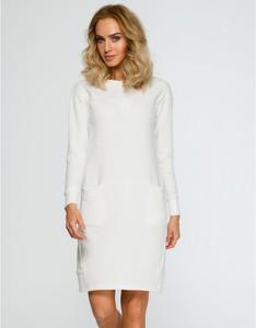 Sukienka MOE z długim rękawem z dzianiny mini