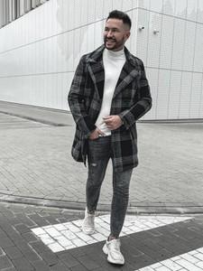 Płaszcz męski Denley z tkaniny