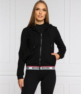 Czarna bluza Moschino w stylu casual krótka