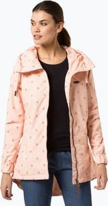 Różowa kurtka Alife & Kickin długa w sportowym stylu