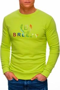 Zielona bluza Edoti w młodzieżowym stylu z bawełny