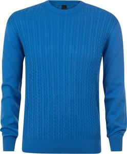 Niebieski sweter Evolution z bawełny