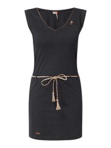 Czarna sukienka Ragwear bez rękawów w stylu casual z dekoltem w kształcie litery v