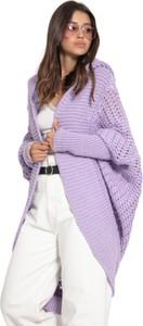 Fioletowy sweter Fobya z wełny w stylu casual