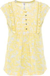 Żółta bluzka bonprix w stylu casual z okrągłym dekoltem bez rękawów