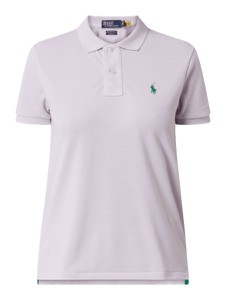 Fioletowa bluzka POLO RALPH LAUREN w stylu casual z krótkim rękawem