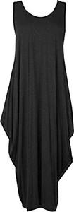 Czarna sukienka Papaval z długimi nogawkami
