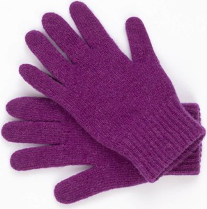 Fioletowe rękawiczki Kamea
