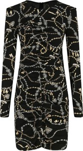 Sukienka Pinko z długim rękawem z okrągłym dekoltem