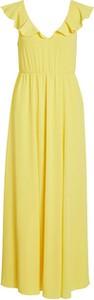 Sukienka Vila maxi bez rękawów z dekoltem w kształcie litery v