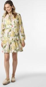 Sukienka comma, z szyfonu w stylu casual z golfem
