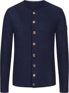 Granatowy sweter Grasegger z dzianiny