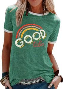 Zielona bluzka Sandbella z bawełny z okrągłym dekoltem