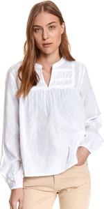 Bluzka Top Secret z długim rękawem z tkaniny