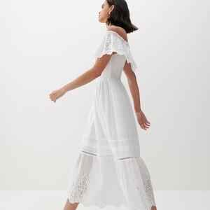 Sukienka Reserved z krótkim rękawem maxi