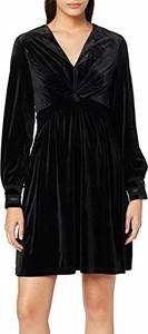 Sukienka amazon.de z dekoltem w kształcie litery v z długim rękawem mini