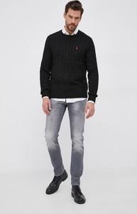 Czarny sweter POLO RALPH LAUREN z dzianiny w stylu casual