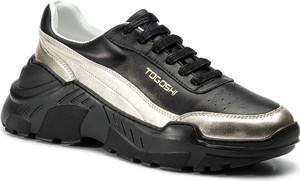 Buty sportowe Togoshi sznurowane w młodzieżowym stylu ze skóry