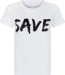 Bluzka Save The Duck z krótkim rękawem w młodzieżowym stylu
