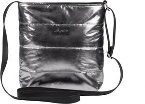 04f58e83ca1bf Srebrna torebka Mb Classic Bag przez ramię w młodzieżowym stylu