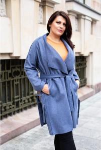 Niebieski płaszcz Sklep XL-ka