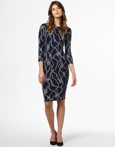 Sukienka Rich & Royal z długim rękawem z okrągłym dekoltem midi