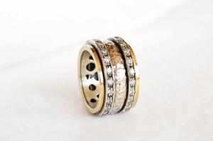 Astorga Luksusowe hand made - obrączka ze srebra i złota