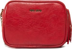 Czerwona torebka Pepe Jeans mała na ramię