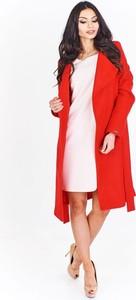 Czerwony płaszcz Fokus w stylu casual